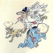 河鍋暁斎百鬼夜行Wikimedia