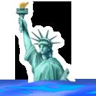 沈む自由の女神Apple