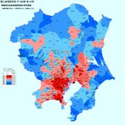 関東格差大卒率Wikimedia