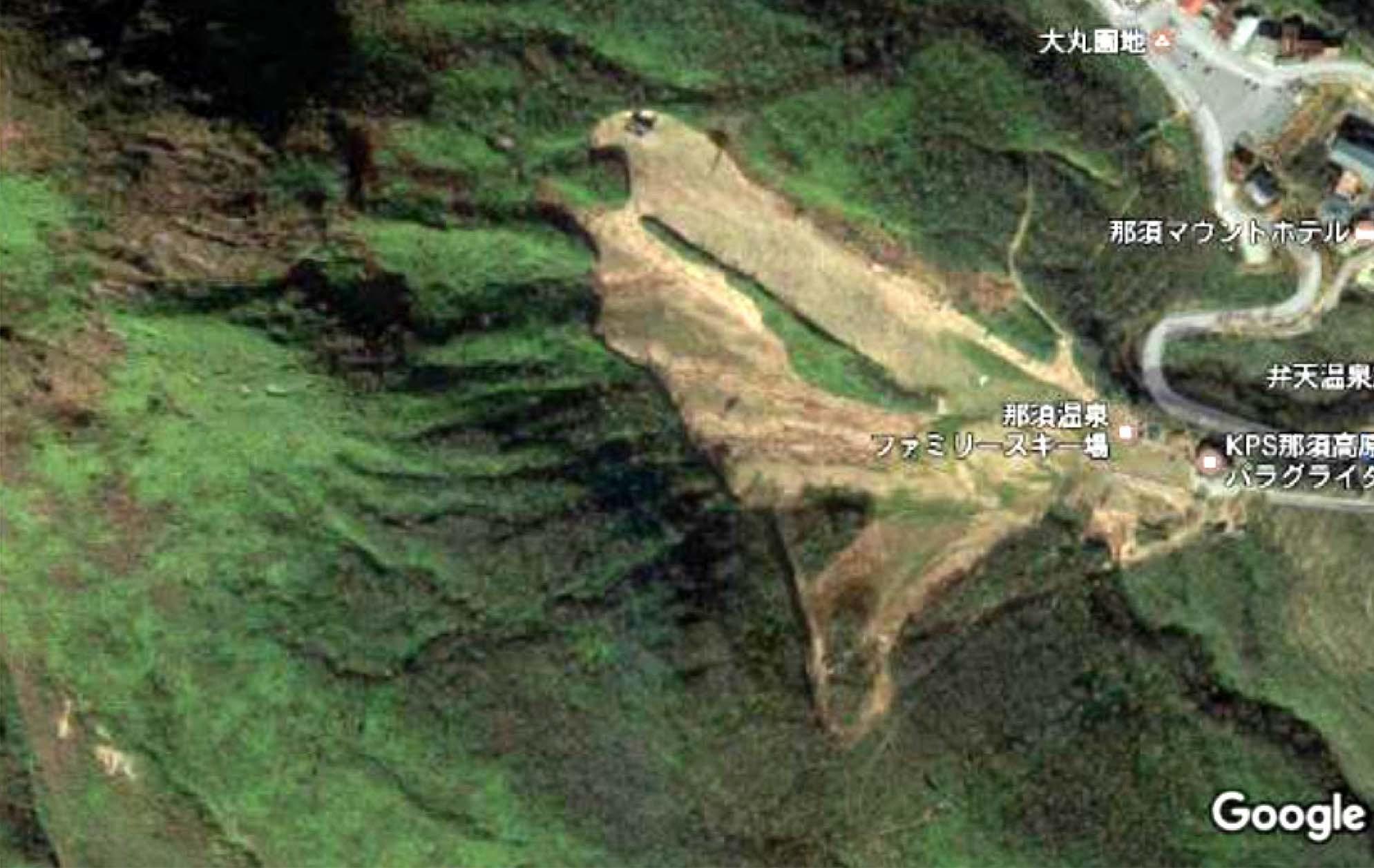 那須の雪崩事故現場周辺図(3)