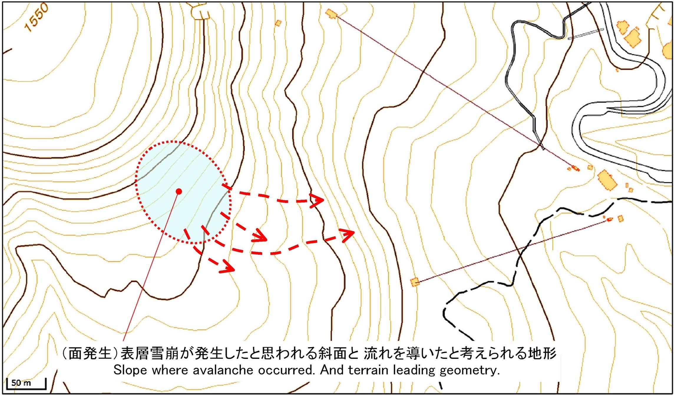 那須の雪崩事故現場周辺図(2)
