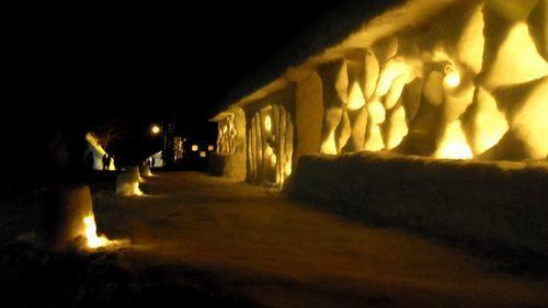 月山志津温泉雪旅籠の灯り32
