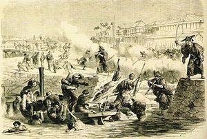 堺事件, ルモンド・イリュストレ紙挿絵(1868)