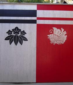 源氏の白旗と平家の赤旗