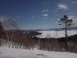 結氷中の屈斜路湖