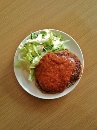 ジャンボハンバーグ、明太チーズソース2