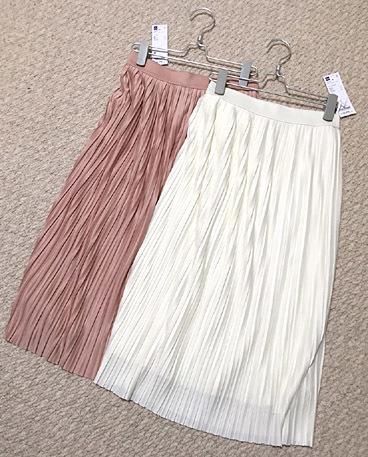 「GU」で春物プリーツスカートをゲット!