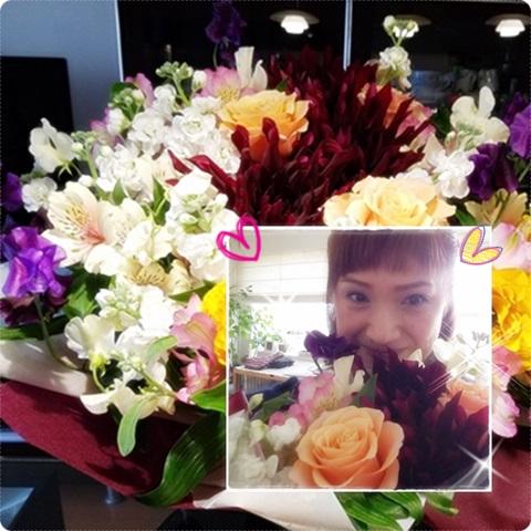 お花ありがとう。