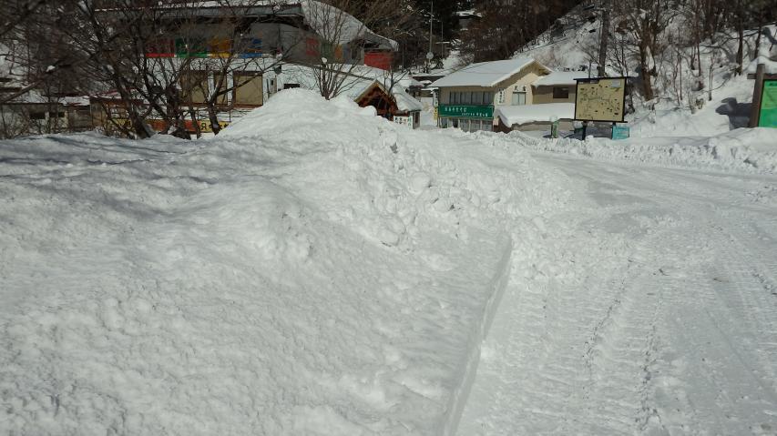 除雪による堆雪