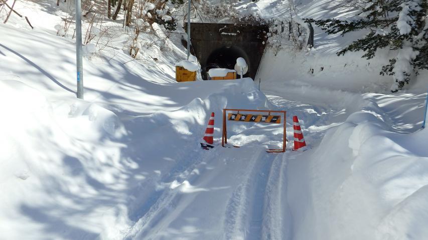 見ノ越トンネルは通行止め