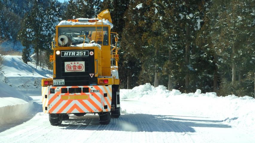 ロータリー除雪車も登場