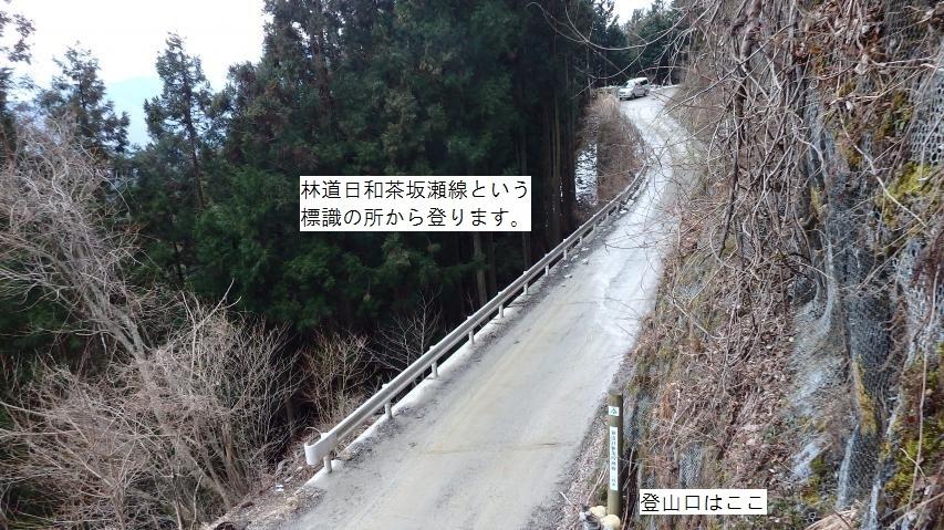 ここが歩く登山道入り口