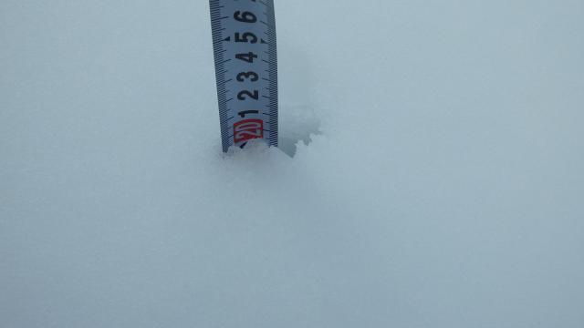 積雪は20センチ程度