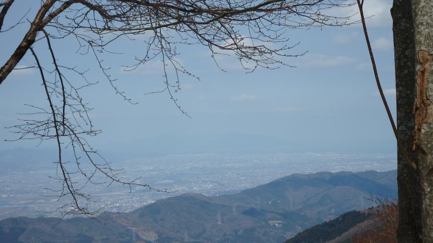 淡路島が見えています
