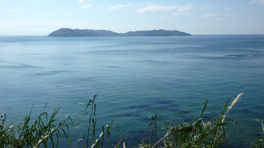 紀伊水道に浮かぶ宝島、沼島(ぬしま)
