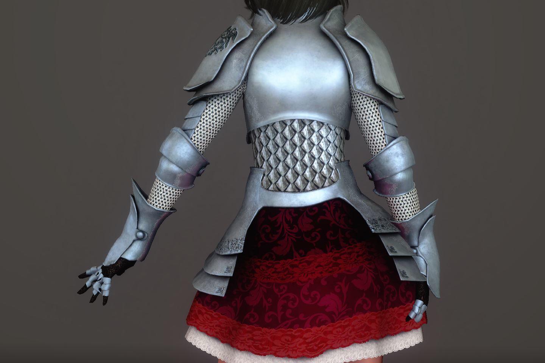 Chevaleresse Armor 033-1 Pose Up-Ba-F 1