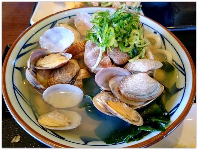 青森県 弘前市 讃岐 うどん 丸亀製麺 あさりうどん ランチ グルメ 写真