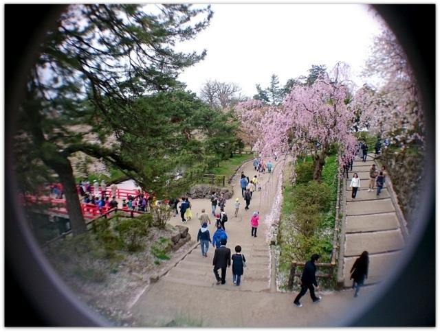 青森県 弘前市 弘前城 弘前公園 弘前さくらまつり 観光 スマホ レンズ 写真 クリップ式 広角 魚眼