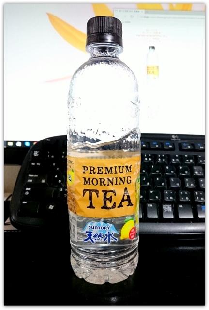 プレモノ サントリー 天然水 PREMIUM MORNING TEA レモン 550ml 当選 ペットボトル
