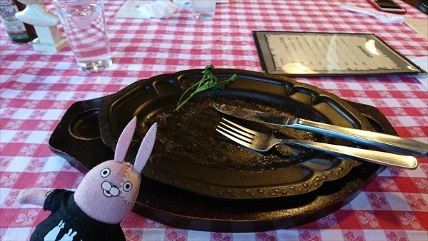 フィレステーキ完食