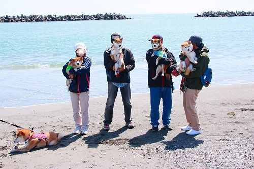 ふるさと海岸の記念写真