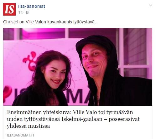 Ville Valo Iskelma Gaala 2017