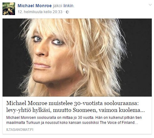 Michael Monroe IS 2017