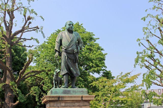 上野の 西郷隆盛像