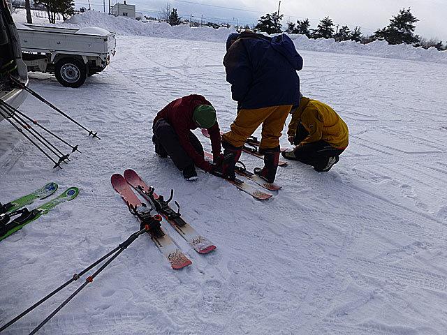 17 2/27 スキーシュー 調整