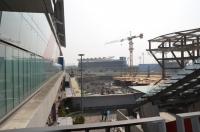 駅から桃園球場を見る170401