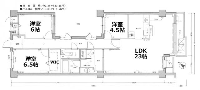 ■物件番号4862 広い97平米の大型3LDK!分譲マンション賃貸!LDK23帖!水廻りリフォーム済!海3分!