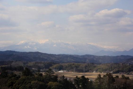 展望台からの蔵王連峰