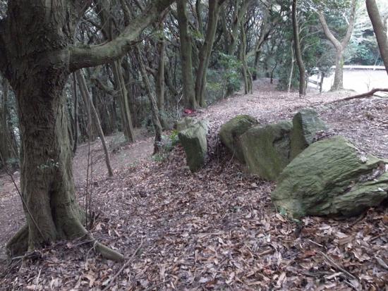170313_05神籠石と車道