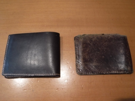 1財布の革を交換
