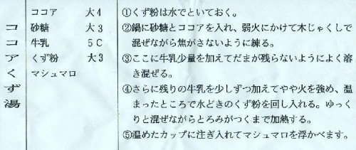 ココアくず湯 (2)