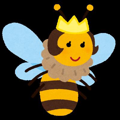 虫、蜂、女王蜂