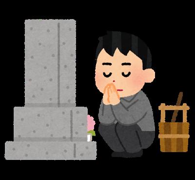 お墓参り、墓