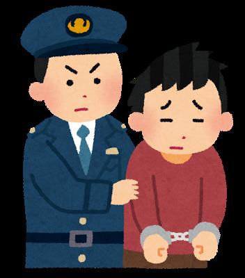 逮捕、警察、犯罪者