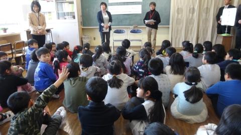 「石岡ふるさと学習授業公開参観」①