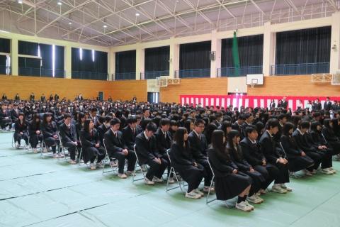 「石岡第二高等学校卒業証書授与式」②