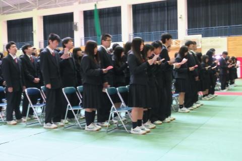 「石岡第二高等学校卒業証書授与式」⑥