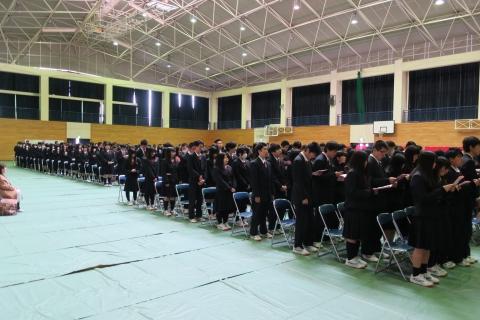 「石岡第二高等学校卒業証書授与式」⑥1