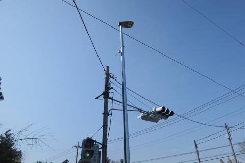 「行里川交差点にLED照明が付きました!」④
