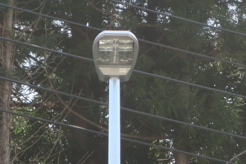 「行里川交差点にLED照明が付きました!」⑤
