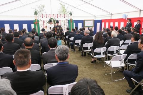 「石岡市新庁舎建設工事安全祈願祭」⑥