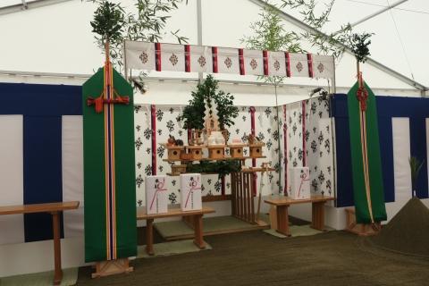 「石岡市新庁舎建設工事安全祈願祭」⑫
