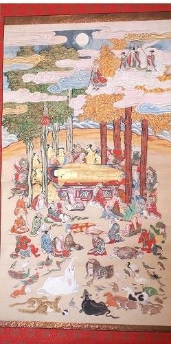 500子供坐禅会 法話 涅槃図  帝釈天1