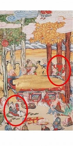 500子供坐禅会 法話 涅槃図  帝釈天8
