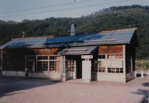 改築直前の旧島ノ下駅舎
