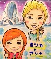 コスプレ似顔絵 アナと雪の女王
